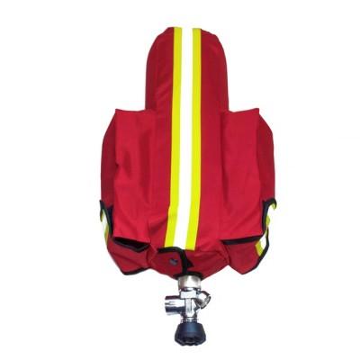 Чехол для баллона СИЗОД с 2 карманами (красный)
