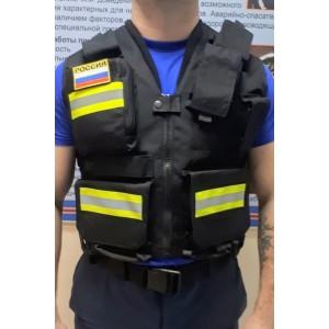 Разгрузочный жилет спасателя (черная)