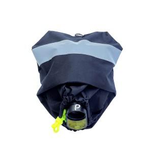 Чехол для панорамной маски на завязках (черный)