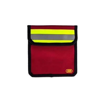 Чехол малый поясной для пожарного (красный)
