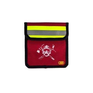Подсумок поясной М3 с логотипом (красный)