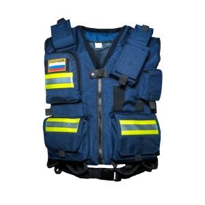 Разгрузочный жилет спасателя (синий)