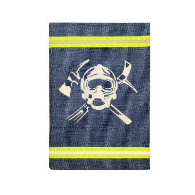 Обложка на паспорт с узкой лентой (голубой)