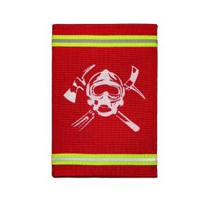 Обложка на паспорт с узкой лентой (красный)